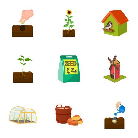Farm, garden, and other web icon in cartoon style. Calcium, Desert, watering icons in set collection.