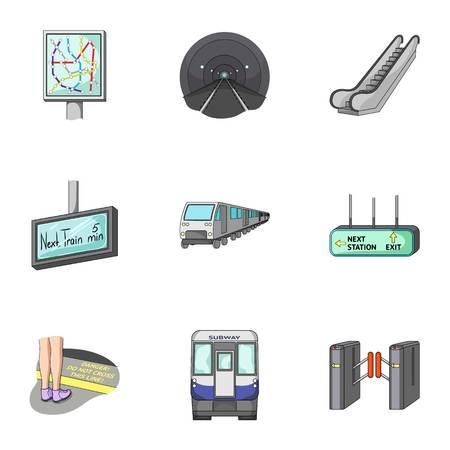 Movimiento, transporte eléctrico y otro icono web en estilo de dibujos animados.Attributes, público, significa, iconos en conjunto de colección.