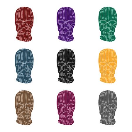 目撃者から犯罪者の顔を閉じるためのマスクします。刑務所単一アイコン スタイル ベクトル シンボル ストック イラスト。