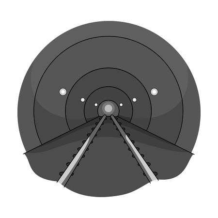 Tunnel, single icon in monochrome style.Tunnel, vector symbol stock illustration web.