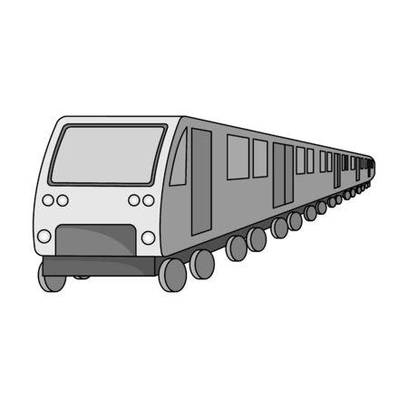 電車、モノクロスタイルのシングルアイコン。トレイン、ベクターシンボルストックイラストウェブ。