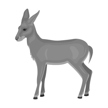 A young, wild antelope. A wild-footed animal of an antelope single icon in monochrome style vector symbol stock illustration web.