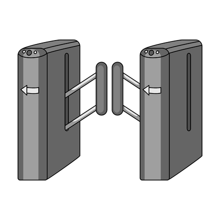 Turnstile, single icon in monochrome style.Turnstile vector symbol stock illustration web.