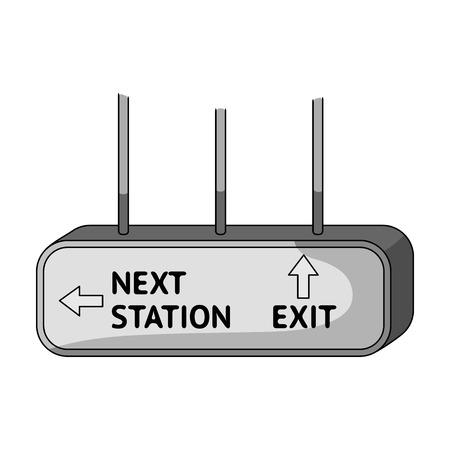 Signboard, single icon in monochrome style.Signboard, vector symbol stock illustration web. Illustration