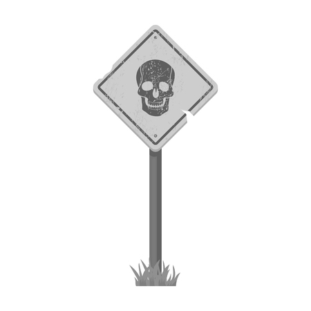 Sign, single icon in monochrome style.Sign, vector symbol stock illustration web.