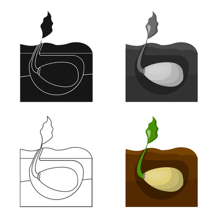 peasant: Root, single icon in cartoon style .Root vector symbol stock illustration web. Illustration