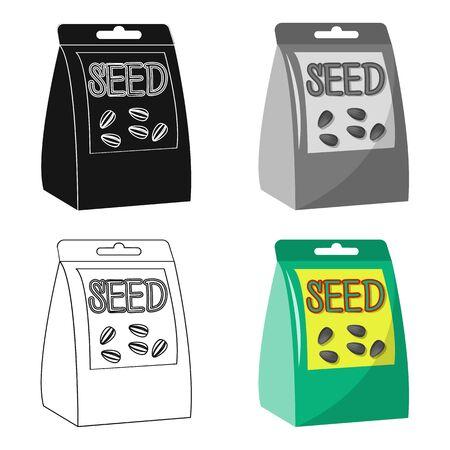 種子、漫画スタイルの単一のアイコン。種子、ベクトルシンボルストックイラストウェブ。