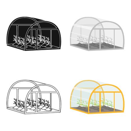 Greenhouse, single icon in cartoon style .Greenhouse, vector symbol stock illustration web.