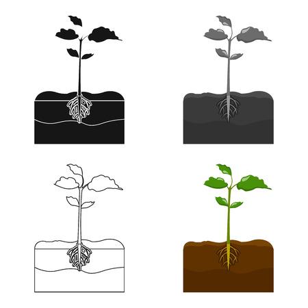 Planten enkel pictogram in cartoon stijl. Planten, vector symbool stock illustratie web.