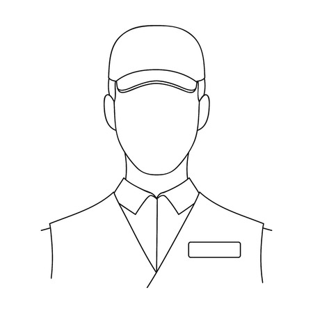 Man single icon in outline style.Man, vector symbol stock illustration web.