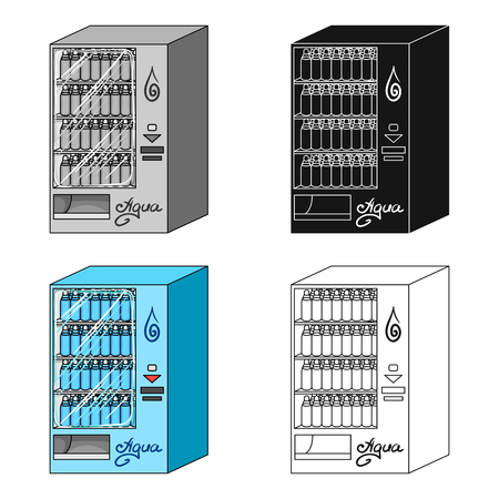Terminal for the sale of bottled water. Terminals single icon in cartoon style isometric vector symbol stock illustration web. Illustration