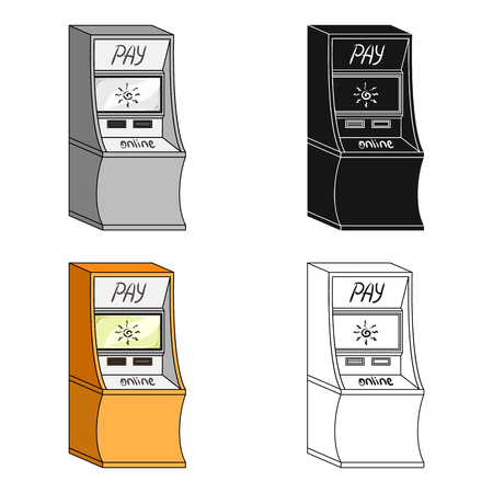 checking account: Terminal for various types of payment. Terminals single icon in cartoon style isometric vector symbol stock illustration web.