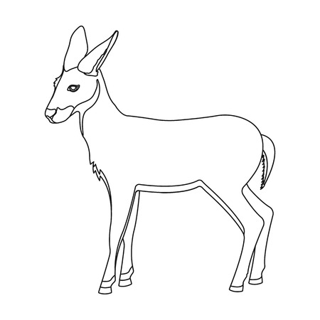 A young, wild antelope. A wild-footed animal of an antelope single icon in outline style vector symbol stock illustration web. Illustration