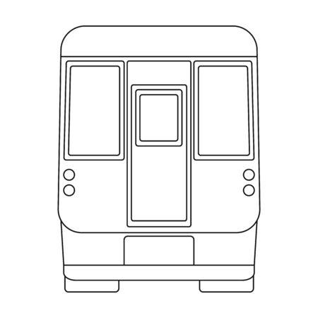 Wagon, single icon in outline style.Wagon vector symbol stock illustration web.