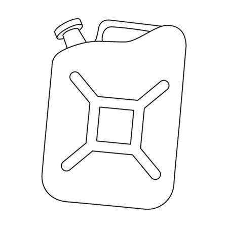 Canister single icon in outline style.Canister vector symbol stock illustration web.