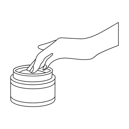 Cream, single icon in outline style.Cream, vector symbol stock illustration web. 向量圖像