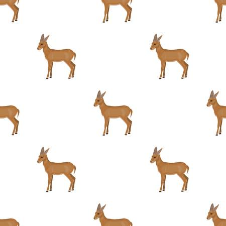 A young, wild antelope. A wild-footed animal of an antelope single icon in cartoon style vector symbol stock illustration web.