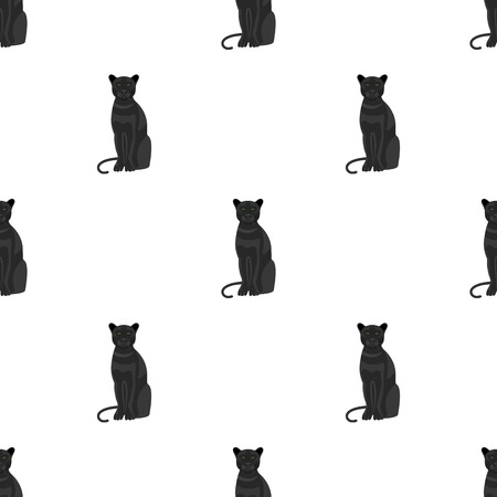 Panther, predatory animal. Pantera, wild cat single icon in cartoon style vector symbol stock illustration web.