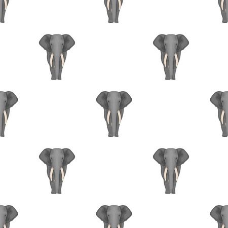 squad: The elephant, the biggest wild animal. African elephant with tusks single icon in cartoon style vector symbol stock illustration web.