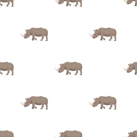 大規模なインドのサイ。野生動物、漫画スタイルのベクトル シンボル ストック イラスト web でサイの 1 つのアイコン。