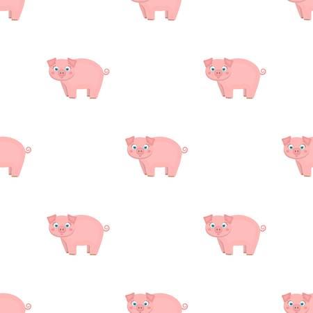 Piglet, single icon in cartoon style.Piglet vector symbol stock illustration web. Ilustracja