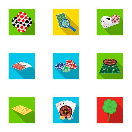 pica: Hobby, entertainment, recreation and other  icon in flat style.Excitement, game, casino, icons in set collection.