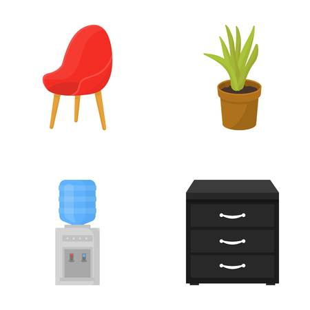 Office Furniture set collection icons
