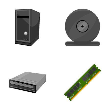 Icone di raccolta set di personal computer Archivio Fotografico - 86535883