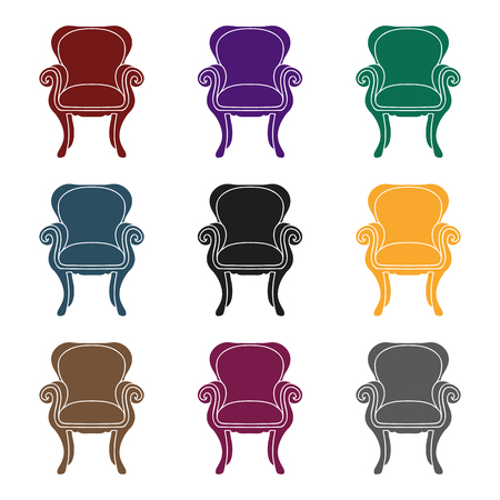 Icono de silla de ala trasera Foto de archivo - 86535906