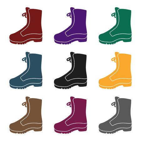 Combat boot icon