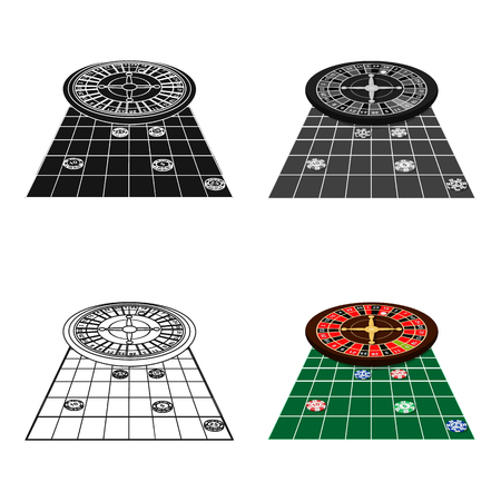 Roulette, single icon in cartoon style.Roulette, vector symbol stock illustration web.