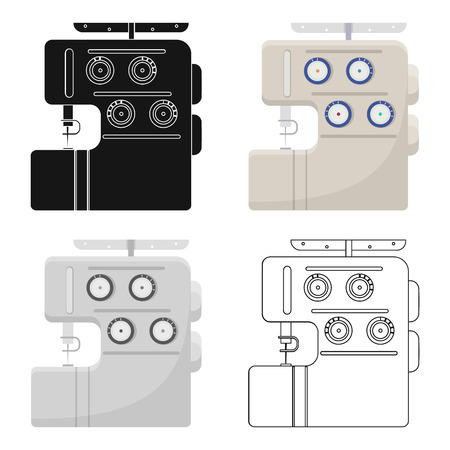 Sewing and equipment single icon in cartoon style vector symbol stock illustration web.