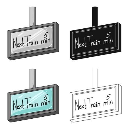 Signboard, single icon in cartoon style. Signboard, vector symbol stock illustration web.