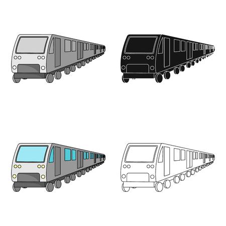 Tren, solo icono en estilo de dibujos animados. Tren, vector símbolo stock ilustración web. Ilustración de vector