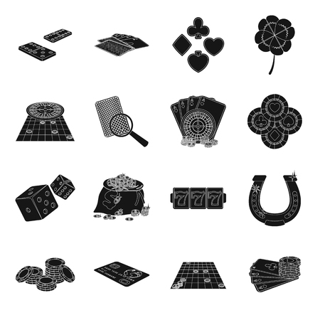 Entretenimiento, ocio, engaño y otro icono de la web en estilo negro. Ganar, fortuna, negocios, iconos en la colección de conjunto.
