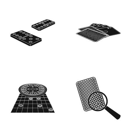 Excitement, casino, game and other web icon in black style Magnifier, cheating, entertainment, icons in set collection.