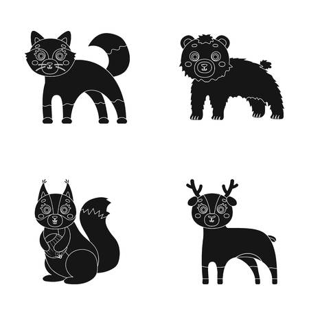 Zoo, nature, reserve and other web icon in black style.Artiodactyl, nature, ecology, icons in set collection.