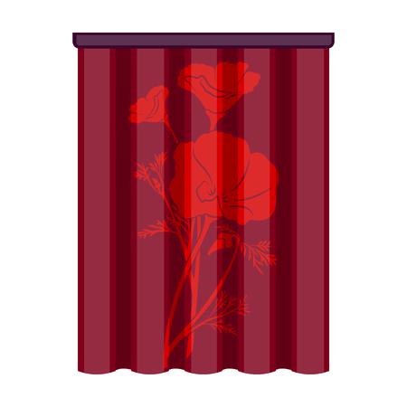 Curtains, single icon in cartoon style.Curtains vector symbol stock illustration web. Illustration