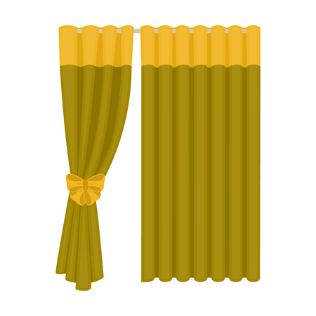 Curtains, single icon in cartoon style.Curtains, vector symbol stock illustration web. Illustration