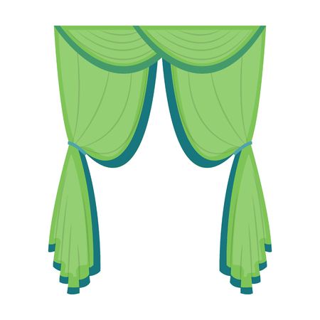 Curtains, single icon in cartoon style.Curtains vector symbol stock illustration web. Çizim
