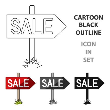real estate sold: Signboard sale.Realtor single icon in cartoon style vector symbol stock illustration web.
