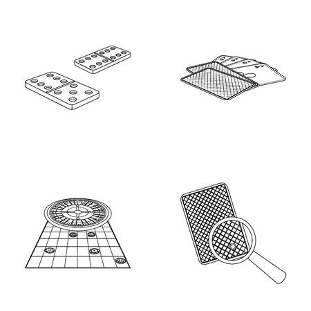Excitement, casino, game and other  icon in outline style Magnifier, cheating, entertainment, icons in set collection.