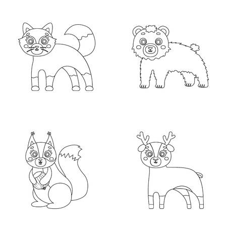Zoo, nature, reserve and other web icon in outline style.Artiodactyl, nature, ecology, icons in set collection.