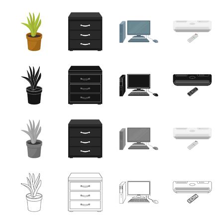 Ausrüstung, Büro, Attribute und anderes Symbol Standard-Bild - 86922809