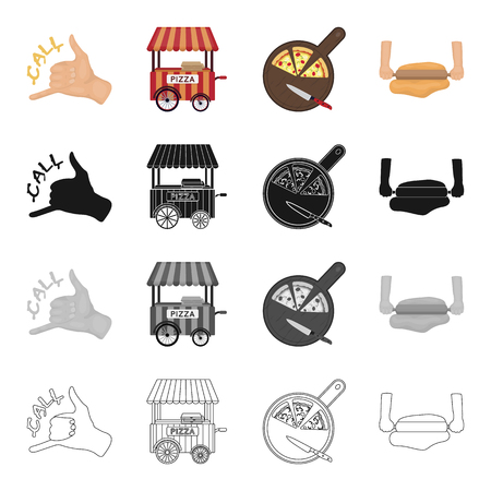finger fish: Treat, cafe, restaurant and other  icon in cartoon style.Gurney, dough, food icons in set collection.