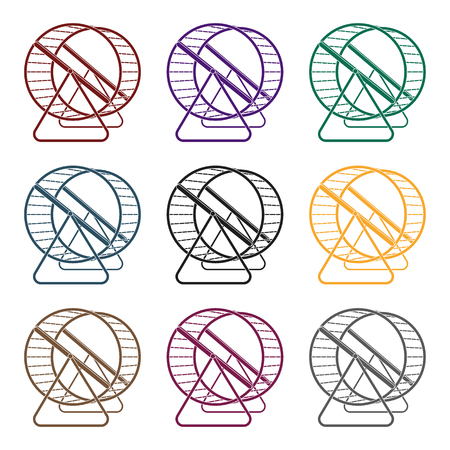 Rad für Nagetiere. Einzelne Ikone des Geschäftes in der schwarzen Artvektorsymbol-Vorratillustration. Standard-Bild - 86922871