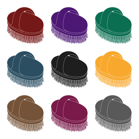 Animal brush.Pet shop single icon in black style vector symbol stock illustration .
