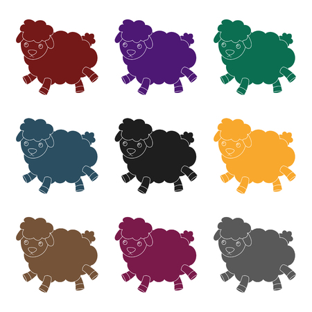 Toy sheep icon in black style isolated on white background. Sleep and rest symbol stock vector illustration.