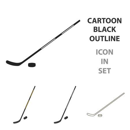 hockey goal: Hockey icon cartoon. Single sport icon from the big fitness, healthy, workout cartoon.
