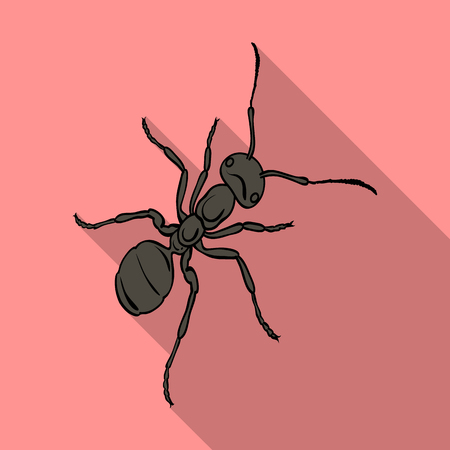 The hymenopteran insect is an ant.Arthropod animal ant single icon in flat style vector symbol stock isometric illustration web.